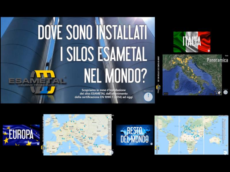 Zone d'installazione dei silos ESAMETAL nel mondo